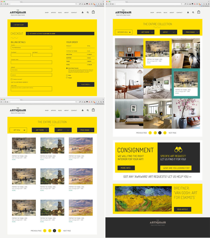 Website webshop artiquair klassieke kunst in hedendaags for Hedendaags interieur